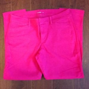 NWOT Hot Pink Old Navy Cropped Ankle Pants